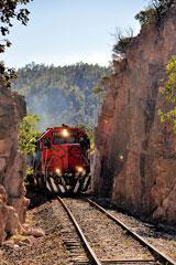 Chepe train, Chihuahua al Pacifico Railway, near Copper Canyon, Mexico