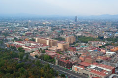 View of central Mexico City from the top of Torre (Tower) Latinoamericana