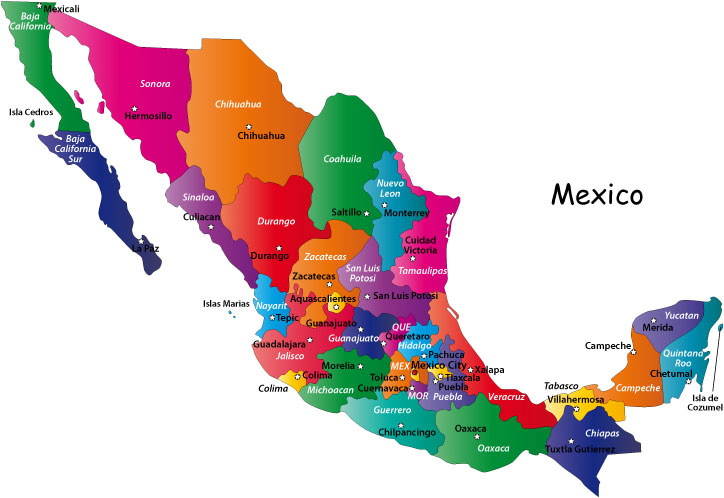 About MapOfMexicoorg Mexican Map Website - A map of mexico